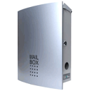 [debut magnet model] LEON MB4504-M [Mail Box MB4504-M (Silver)] possible as for the modern design mailbox, the keyless use