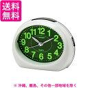 芳国産業 YT5257WH 白 クォーツ目覚まし時計