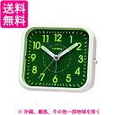 芳国産業 YT5270WH 白 クォーツ目覚まし時計 ミントパル