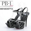 【PB-1 SELECT PB-1 セレクト シューズ系(靴)】 [3394] ブラック[黒] 22.5 23.0 23.5 24.0 24.5 キャバ スナック クラブ サンダル パンプス ミュール 厚底 ※靴のみ