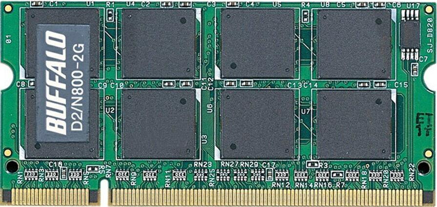 BUFFALO D2/N800-2G PC2-6400S (DDR2-800) 2GB【中古】