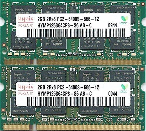 hynix PC2-6400S (DDR2-800) 2GB x 2枚組み 合計4GB 動作保証品【中古】