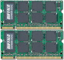 BUFFALO D2/N800-2Gx2 PC2-6400S (DDR2-800) 2GB x 2枚組み 合計4GB【中古】