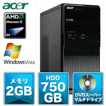 【送料無料】AcerASM3202-A43(AMDPhenom2X49252.8GHz/2GB/750GB/Sマルチ/モニター無し/VistaHome-P)【予約受付中】