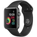 【送料無料】当社6ヶ月保証[未使用品]■Apple Apple Watch Series 2 42mm (MP0G2J/A) [スペースグレイアルミニウムケース/ブラックスポーツバンド] 【周辺機器】中古【中古】 【 パソコン&白ロムのイオシス 】