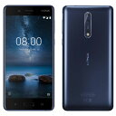 SIMフリー Nokia 8 Dual-SIM TA-1052 【Tempered Blue 64GB 海外版 SIMフリー】[中古Cランク]【当社1ヶ月間保証】 スマホ 中古 本体 送料無料【中古】 【 中古スマホとタブレット販売のイオシス 】
