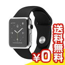 【送料無料】当社1ヶ月間保証[未使用品]■Apple Apple Watch 38mm (MJ2Y2J/A) 【ステンレススチール/ブラックスポーツバンド】【周辺機器】中古【中古】 【 中古スマホとタブレット販売のイオシス 】