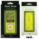 Bone Nano4 Wrap Yellow(iPod nano第4世代対応のシリコンケース・ヘッドフォン巻取り機能付)