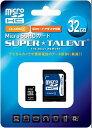 microSDHC ST32MSC4A(SuperTalent・32GB・Class4・SD変換アダプタ付・安心の3年保証)【02P18Jun16】