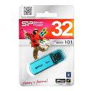 USB SP032GBUF2101V1B(Helios101シリーズ・32GB・シリコンパワー永久保証!ブルー)