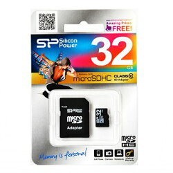 microSDHCSP032GBSTH010V10-SP(32GB・Class10・SDアダプタ付・シリコンパワー永久保証)