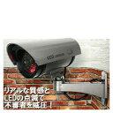 CCDダミー防犯カメラ(角度自由・取付簡単・赤色LEDが常時点滅!玄関やベランダ、駐車場に!)【02P03Dec16】