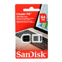 USB SDCZ33-064G-B35(挿しっ放しならコレ!超小型USBメモリ64GB SanDisk Cruzer Fit)