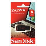 SanDisk・8GB【USBメモリSDCZ50-008G-B35】Cruzer Blade・キャップレス