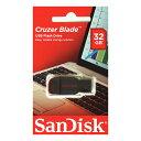 SanDisk・32GB【USBメモリSDCZ50-032G-B35】Cruzer Blade・キャップレス