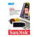 サンディスクULTRA 128GB高速【USBメモリSDCZ48-128G-U46】R 100MB/s USB3.0&2.0対応