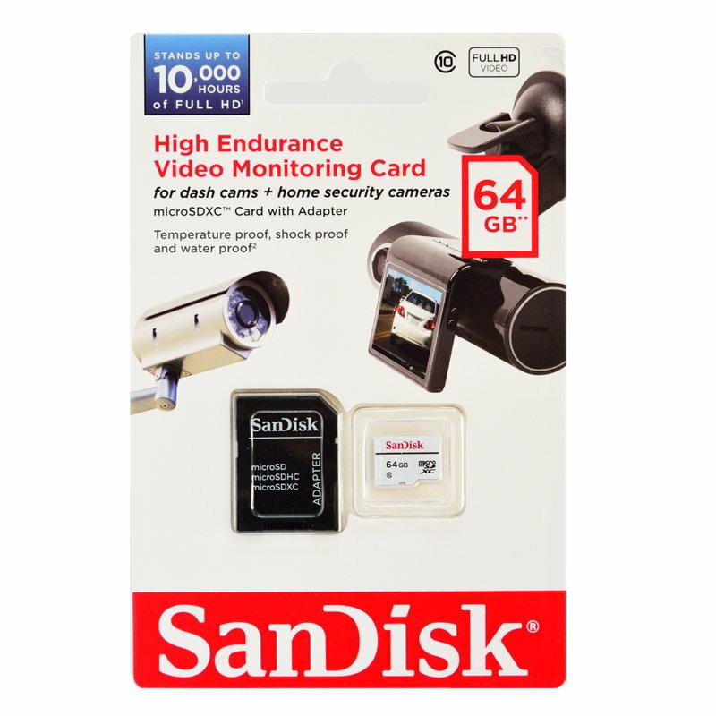 ドライブレコーダー対応・MLC高耐久64GB【microSDXCカードSDSDQQ-064G-G46A】Class10・サンディスク
