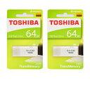 東芝64GB【USBメモリTHN-U202W0640A4 x2点】お得な2個セット