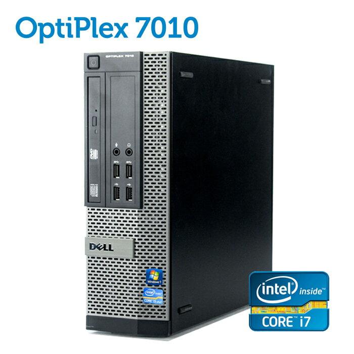 デル DELL OptiPlex 7010 SFF 【第三世代 Core i7-3770 大容量8GBメモリ 新品SSD256GB USB3.0 光学ドライブ DisplayPort 正規版Office付き】 中古パソコン Win10 デスクトップ Windows10【あす楽】