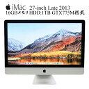 Apple iMac A1419 27-inch late 2013 ME089LL/A Core i5-4670 3.4GHz 16GBメモリ 1TB 2560x1440 2K解像度 アップル 10.14Mojave 中古一体型AIO 中古デスクトップパソコン