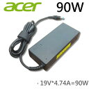 純正新品Acer 90W ACアダプターfor ADP-90CD BB ADP-90CD DB PA-1900-32 PA-1900-34対応 19V4.74A ACコネクタ:4.7mm*1.7mm