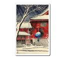 浮世絵マウスパッド 12007 川瀬巴水 - 上野清水堂の雪