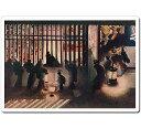浮世絵マウスパッド 薄ぴた U3001 葛飾応為 - 吉原格子先の図