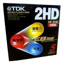 TDK MF2HD-256X5P 2HD 3.5FD 5枚入り(ブラック) 【4902030050870】