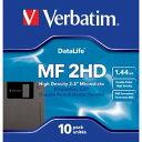 三菱化学 Verbatim MF2HD 黒 10枚入 2HD 3.5型 フロッピーディスク 【0023942874102】