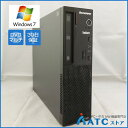 【中古デスクトップパソコン】Lenovo/ThinkCentre E73 Small/10AU00EQJP/Core i3-4150 3.5G/HDD 500GB/メモリ 4GB/Windows 7 Professio..