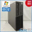 【中古デスクトップパソコン】Lenovo/ThinkCentre E73 Small/10B7007QJP/Core i3-4170 3.7GHz/HDD 500GB/メモリ 4GB/Windows 7 Professional 32bit【優】
