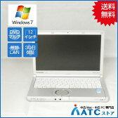【中古ノートパソコン】Panasonic/Let's note/CF-SX2ADRCS/12.1インチ/Core i5 3340M/2.7GHz/SSD128GB/メモリ4GB/Windows 7 Professional 32bit【良】