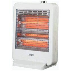【送料無料】C:NET 電気ストーブ 800/400W切替式 ホワイト CEH102