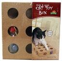 【送料無料】ころころ ボールボックス 木製 ねこじゃらし猫ちゃんのおもちゃ TEC-CATTOYB