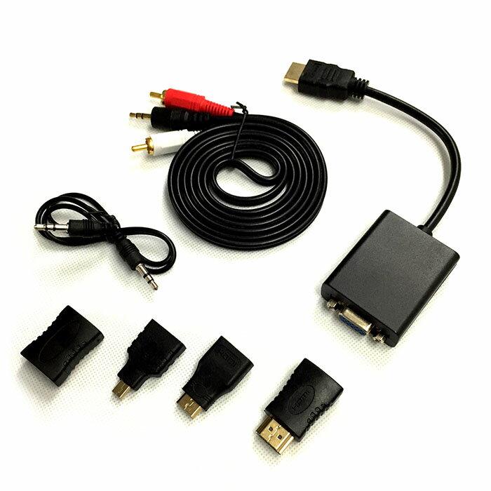 【送料無料・一部地域除く】HDMI to VGA アダプター ブラック HDMI信号をVGA出力信号 d-subに変換するアダプター バスパワー電源不要 DFS-HTG100