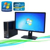 中古パソコンDELL Optiplex790/24ワイド液晶モニタ(フルHD対応)Corei3 2100(メモリ2GB)(250GB)(DVD-ROM)(Windows7Pro 32Bit)(dtb-386)P11Sep16【R-dtb-386】【中古】