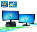 中古パソコン DELL Optiplex 990SF 20型ワイドデュアルモニター Core i7-2600 3.4GHz メモリー4GB DVDマルチ Win7 Pro64Bit /R-dm-050 ..