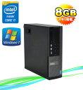 中古パソコン DELL 9020SF モニタレス Core i7 4770 3.4GHzメモリー8GBDVDマルチ1TB64Bit Windows7Pro /R-d-323/中古