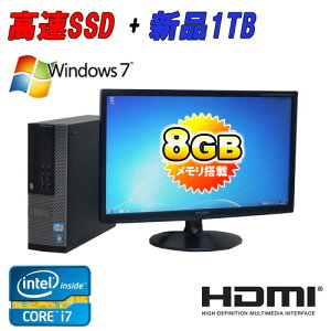 ��ťѥ�����DELL7010SF21.5�磻�ɱվ�(Corei73770(3.4GHz)(���꡼8GB)(SSD120GB+����1TB)(DVD�ޥ��)(64BitWindows7Pro)(HDMI��¢GeForce)����š�P20Feb16����ťѥ������
