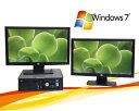 中古パソコン DELL 780SF 20型ワイド液晶デュアルモニターセット Core2 Duo E7500 メモリー2GB DVD Windows7Pro /R-dm-031/中古