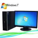中古パソコン HP 6000Pro SFF 19型液晶モニター Core2Duo E7500-2.93GHz メモリ2GB 32Bit Windows7 Pro R-dtb-361/中古