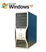中古パソコン DELL Precision T3400 Core 2 Duo E6750メモリ4GB WindowsXP Pro R-w-044 ワークステーション /中古【02P03Dec16】