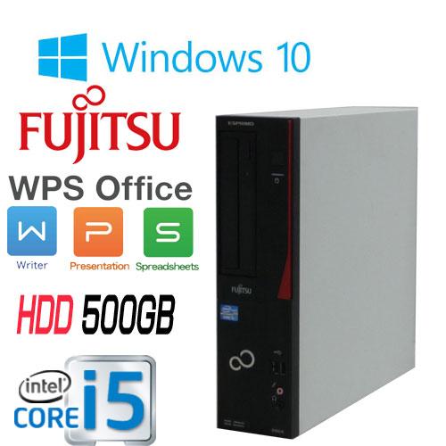 正規OS Windows10 64Bit 富士通 FMV d582 Core i5-3470(3.2Ghz) メモリ4GB HDD500GB DVDマルチ WPS Office付き 1416aR USB3.0対応 中古 中古パソコン デスクトップ