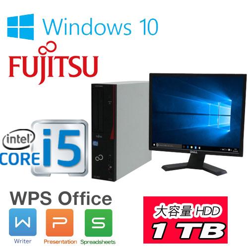 中古パソコン デスクトップ 富士通 D582 第3世代 Core i5-3470(3.2Ghz) メモリ4GB DVDマルチドライブ HDD 1TB Windows10 Home 64Bit(正規OS MAR) /19型スクエア液晶 ディスプレイ /1306sR(dtb-) /中古
