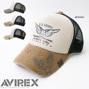 【AVIREX】【CAP】55麻綿ロゴ&エンブレムプリントメッシュキャップ帽子 アビレックス【男女兼...