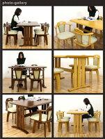 ダイニングテーブルセットダイニングセット5点セット4人掛けテーブル幅135cm回転チェアナチュラルブラウン選べる2色座面合成皮革PVC合皮北欧シンプルモダンダイニング長方形木製格安楽天通販送料無料