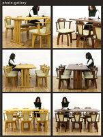 ダイニングテーブルセットダイニングセット7点セット6人掛けテーブル幅180cm回転チェアナチュラルブラウン選べる2色座面合成皮革PVC合皮北欧シンプルモダンダイニング長方形木製格安楽天通販送料無料