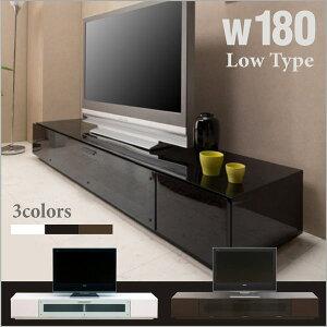 テレビ台 テレビボード 180幅 鏡面 ローボード テレビ