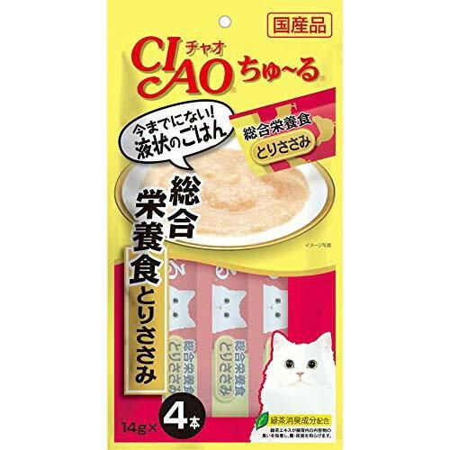 【イナバ】チャオ ちゅ〜る 総合栄養食 とりささみ 1袋(6個入)
