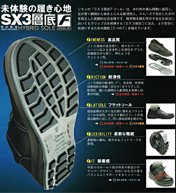 安全靴 シモン WS11 「SX3層底Fソール...の紹介画像2